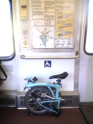 Brompton on the DC Metro