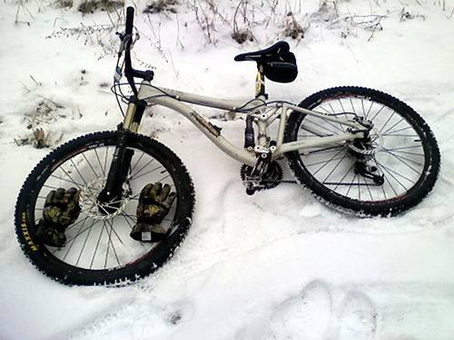 Winter Trail Commuting by Mountain Bike